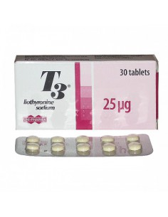 T3/T4 - Unit :30 pills (25 mcg/tab)